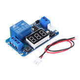 24V Trigger Time Delay Relay Module with LED Digital Display  0-999s 0-999min 0-999H Work-delay/Delay-work