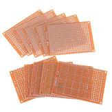 100 шт. Универсальная Печатная Плата 5x7 см 2.54 мм Отверстие DIY Прототип Бумаги Печатная Плата Панель Односторонняя Плата