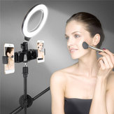 Dimmable LED Ring Light Kit+Light Stand 6500K Camera Photo Video Desktop Lamp