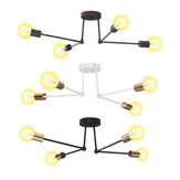 E27 Modern Pendant Lamp Ceiling Light Chandelier Vintage 4 Heads Sockets Holder