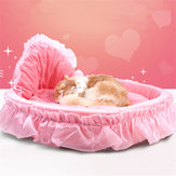 Luxury Princess Cat Bed Puppy Bed Sofa Purple Pink Lace Cat House Small Dog Kennel Warm Soft Pet Bed