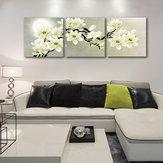 Miico Ręcznie malowane Trzy połączone obrazy dekoracyjne Malarstwo botaniczne Sztuka ścienna do dekoracji wnętrz