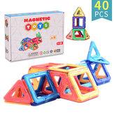 40ks magnetických bloků hračky DIY dětské vzdělávací hračky čistě magnetické s krabičkovým obalem