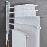 Swivel Towel Rack Wall Mounted Heavy Duty Towel Shelf Towel Holder for Bathroom