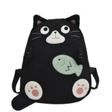 Girls Sport Travel Backpack Beach Storage Bag Rucksack Cat Shape Backpack