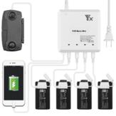 YX 6-em-1 Multi Hub de Carregamento Inteligente Bateria Controle Remoto Carregador de Telefone para DJI Mavic MINI RC Drone Quadricóptero