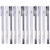 XIAOMI Ecosystem Deli A025B-01 12PCS box Full Needle 0.38mm 0.5mm Gel Pen Transparent Barrels Black Ink Simple Writing Signing Pens Office School Supplies