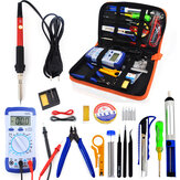 60W EU Plug 220V 110V adjustable temperature Soldering Iron kit With Multimeter Desoldeirng Pump Welding Tool Soldering Tools