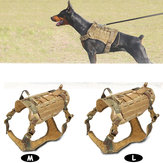 Nylon Dog Tactical Vet Military K9 Wodoodporne szelki Trener Odzież Tactical Pet Clothing-M / L