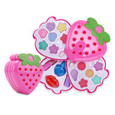 Kids Strawberry Cosmetic Princess Trucco Set Kit Ombretto Lucidalabbra Arrossisce Ragazza Giocattoli