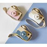 ウェアラブル子供用木製カメラの装飾品ミニポータブル教育玩具写真かわいい小道具