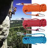 10mx10mm Double Buckle Rock Climbing Corda Esportes Ao Ar Livre Caminhadas Escalada Downhill Segurança Corda