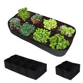 Sub-grid Garden Planting Bag Foldable Breathable Felt Flower Pots Container