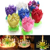 Magical Flower Happy Birthday Blossom Lotus Musical Candle Romantic Party