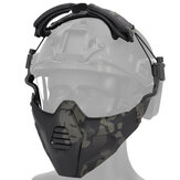 WoSporT MA-115 TPE 3D Face Helmet CS Field Tactical Protective Mask COS Play Tools