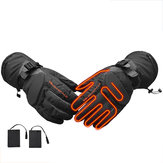 Electric Heating Gloves Skiing Motorcycle Heated Gloves Winter Hand Warmer 3 Gear Temperature Adjustment