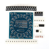 DIY Componente SMD Soldadura Tablero de práctica Mini PCB giratorio LED Flash Kit