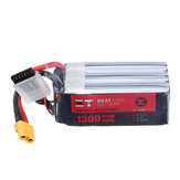 BT 22.2V 1300mAh 95C 6S Lipo Battery XT60 Plug for FPV Racing Drone