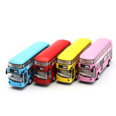 Double Decker Sightseeing Tour Bus 1:50 Model Kids Toys Car With Light