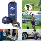 Sac de douche 12L extérieur portatif gonflable se pliant l'eau de camping de baril