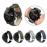Bakeey Canvas Leder Uhr Band für Amazfit Stratos 2/2S Smart Watch