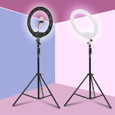 18 بوصة الة تصوير Studio Ring ضوء فيديو LED Beauty Ring ضوء Photography Dimmable Beauty ضوء + Hose هاتف Clip + PTZ + Storage Bag for Selfie Live تبين