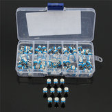 300Pcs 10 Values Variable Resistor 500R To 1M RM065 Carbon Film Horizontal Trimpot Potentiometer Assortment Kit