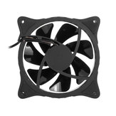 120mm PC Case Fan Computer Cooler Cooling Ultra Silent LED Lights 5 Colors Fan