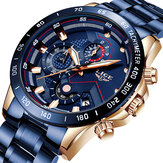 LIGE 9982 Waterproof Multifunction Men Wrist Watch