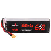 URUAV 14.8V 6200mAh 120C 4S Lipo Battery XT60 Plug for RC Drone
