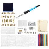 94Pcs 60W Kit de ferro de solda elétrico Ferramenta de artesanato em pirografia de caneta de queima