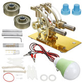 Stirling Engine Hot Air Model Motor Child Educational Kit Kit Fun Projects Heat Engine