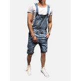 Männer Slim Fit Denim Short Casual Jumpsuit