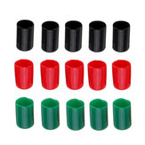 15Pcs Fishbonne XT60 T Connector Protector Plug Red/Green/Black Color Rubber Terminal Insulated Protective Cover Caps Case for Lipo Battery