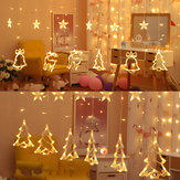 AC110V AC220V 3M Christmas Curtain Window Warm White LED String Light Fairy Party Wedding Outdoor Garden Lamp