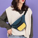 Women Fashion Multi-Color Waist Bag Crossbody Bag Chest Bag