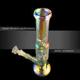 Handmade 30cm Beaker Glass Joint Pipes Bubblers for Smoking Recycler Tobaccco Water Hookaah Pen with/without Luminous