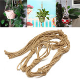 Handmade Macrame plant hanger hanging planter basket jute weave rope craft  Decorations