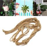 Support en macramé fait à la main suspendu panier jardinière jute tisser corde artisanat décorations