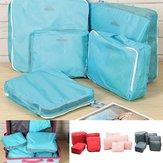 5PCS Ropa interior Almacenamiento de ropa Bolsa Embalaje Cube Viaje Equipaje Organizador
