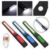 LED Slim Work Light Lamp Lanterna LED Recarregável Magnetic USB Lamp Torch