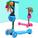Çocuk Katlanır Scooter Ayarlanabilir Gidon 4 LED Tekerlek Kendini Dengeleme Scooter