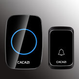 CACAZI 1 Receiver 1 Transmitter EU Plug 300M Remote LED Indicator Wireless Waterproof AC Doorbell