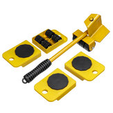 5Pcs Heavy Mover Mover Transport Shifter Moving Roller Wheels Remover Tool