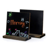 Wooden Small Blackboard Message Board Upright Home Restaurant Menu Card Desktop Cafe Multifunctional Decoration Retro