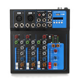 4 Kanal bluetooth Profesyonel Ses Mikseri DJ Mic Karıştırma Konsolu AB US Fiş