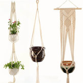 Flower Pot Holder Macrame Plant Hanger Hanging Planter Basket Jute Braided Rope Decorations