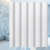Waterproof White Shower Curtain Bathroom Drape Hotel Home Decor Fashion