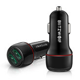 BlitzWolf® BW-SD5 Dual 18W QC3.0 USB Car Charger Fast Charging For iPhone 12 12 Mini 12 Pro Max For Samsung Galaxy Note 20 Xiaomi Mi10