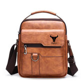 Ekphero Men Vintage Business Bag Crossbody Bag Office Casual